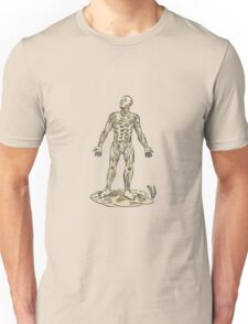 Human Muscle Anatomy Etching Unisex T-Shirt