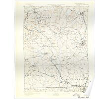 Massachusetts  USGS Historical Topo Map MA Blackstone 352488 1893 62500 Poster