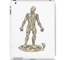 Human Muscle Anatomy Etching iPad Case/Skin