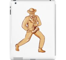 Jazz Player Playing Saxophone Etching iPad Case/Skin