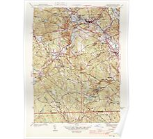 Massachusetts  USGS Historical Topo Map MA Uxbridge 352275 1944 31680 Poster