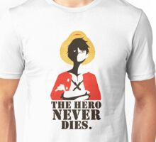 One Piece The Hero Never Dies Monkey D. Luffy Mugiwara Strawhats Pirates Anime Cosplay T Shirt Unisex T-Shirt