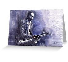 Jazz Saxophonist John Coltrane 03 Greeting Card