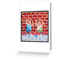 Great WallⅡ-Flood Greeting Card