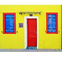 Burano - lemon yellow Photographic Print