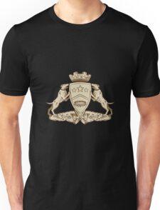Pitbull Dog Coat of Arms Etching Unisex T-Shirt