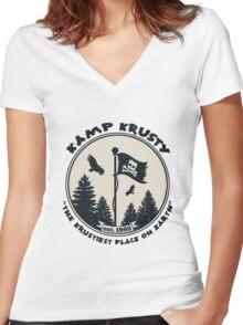 Kamp Krusty Women's Fitted V-Neck T-Shirt