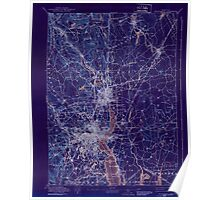 Massachusetts  USGS Historical Topo Map MA Providence 352965 1894 62500 Inverted Poster