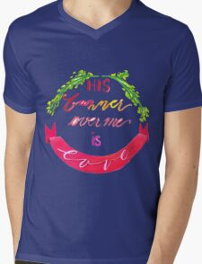 His Banner Over Me is Love Mens V-Neck T-Shirt