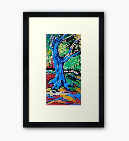 Blue oak Framed Print