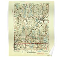 Massachusetts  USGS Historical Topo Map MA Franklin 351703 1940 31680 Poster