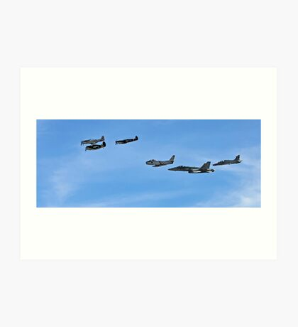 Historic Fly By, WW2 to Present Fighters Art Print