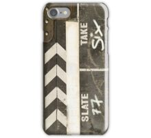 Clapper board 2 iPhone Case/Skin