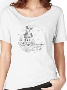 Windmill Drawing Women's Relaxed Fit T-Shirt