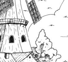 Windmill Drawing Sticker