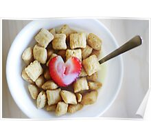 i heart cereal Poster