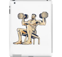 High Intensity Interval Training Dumbbell Etching iPad Case/Skin