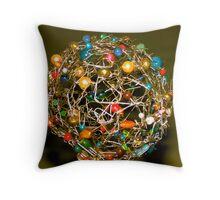 Paper clip ball Throw Pillow