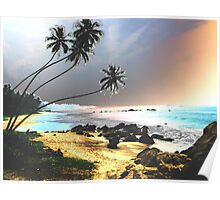 tropical seascape 2 Poster