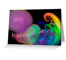 A bubbling Happy Birthday card Greeting Card