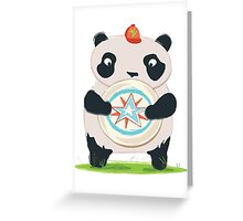 Panda playing Ultimate Frisbee Greeting Card
