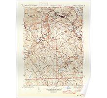 Massachusetts  USGS Historical Topo Map MA Uxbridge 352278 1944 31680 Poster