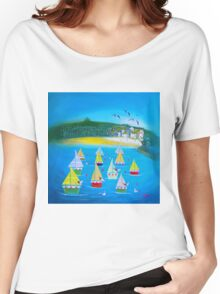 St Ives paper sails Women's Relaxed Fit T-Shirt