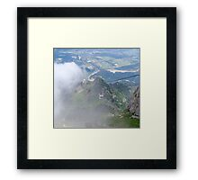 Up Through the Clouds Framed Print