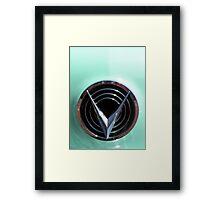 Retro chrome Buick V radiant decoration Framed Print