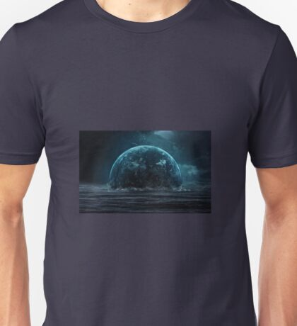 A great Picture of a fantasy moon rising out of the sea. Unisex T-Shirt