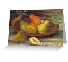Vintage Pears Greeting Card