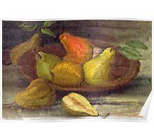 Vintage Pears Poster