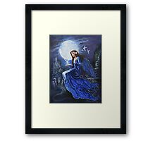 Celtic Moon goddess Framed Print