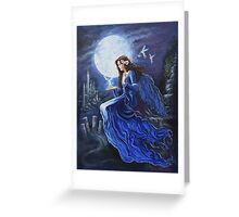 Celtic Moon goddess Greeting Card