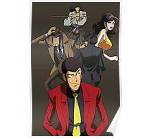 lupin the 3rd third fujiko jigen goemon inspector zenigata anime manga shirt Poster
