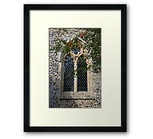 Cockley Cley Church window Framed Print