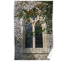 Cockley Cley Church window Poster