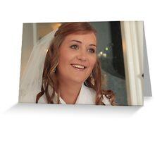 Smiling Bride Greeting Card