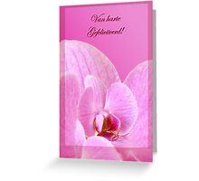 Pink Orchid - Gefeliciteerd  Greeting Card