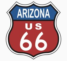 Arizona Route 66 Sign by jean-louis bouzou
