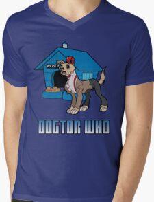 Dogtor Who 11 Mens V-Neck T-Shirt