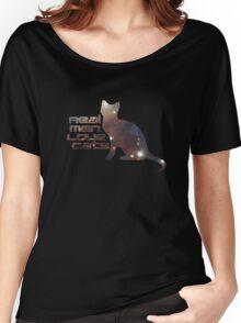 Real Men Love Cats - Cute T-Shirt Women's Relaxed Fit T-Shirt