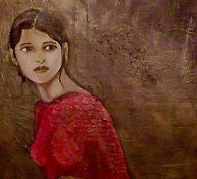 woman by lamadeart