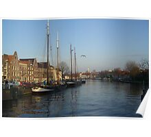 River banks of Haarlem Poster