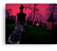 Cemetary in Ohio Canvas Print