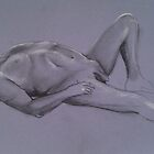 Reclining Male Nude #1 by Jan Szafranski