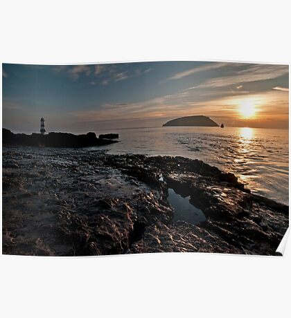 High Tide at Penmon Point, Anglesey. Poster