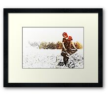 Dancing in the sprinklers Framed Print