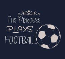 This princess plays football Kids Tee