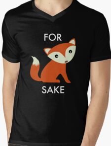For Fox Sake Mens V-Neck T-Shirt